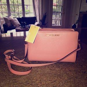 Michael Kors pink crossbody purse, NWT